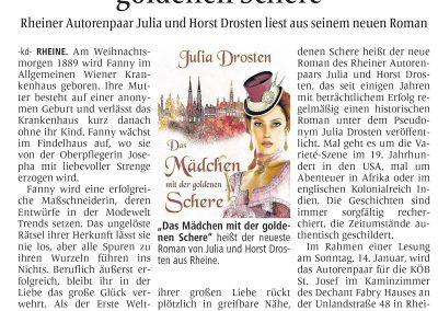 Münsterländische Volkszeitung, 06.01.2018, Autor: Klaus Direkes