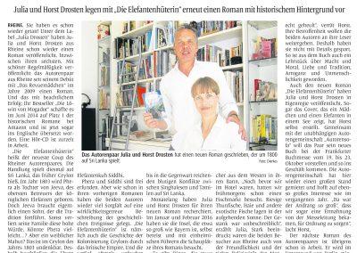 Münsterländische Volkszeitung, 01.10.2016, Autor: Klaus Direkes