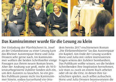 Münsterländische Volkszeitung, 18.01.2018, Autor: Klaus Direkes