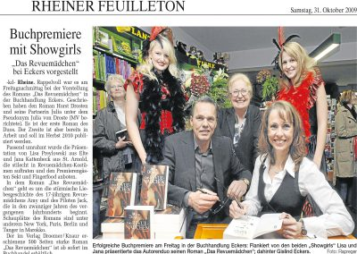 Münsterländische Volkszeitung, 31.10.2009, Autor: Klaus Dierkes