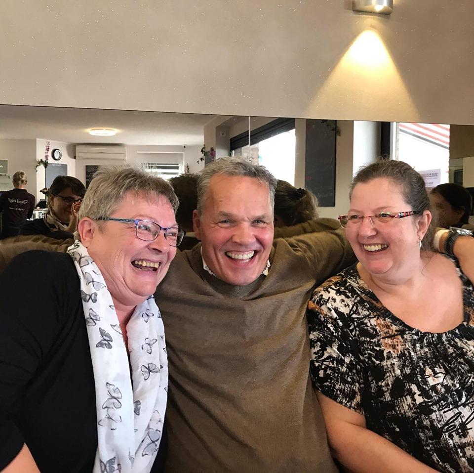 Horst mit zweien seiner Lieblingsbloggerinnen - Ulla und Claudia