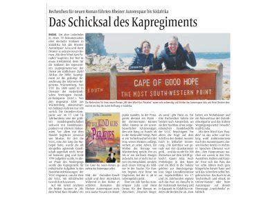 Das Schicksals des Kapregiments MV 27.4.2019 Autor Klaus Dirkes