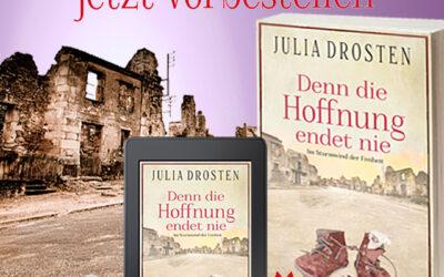 Jetzt vorbestellen: Habt ihr Lust in unserem neuen historischen Roman ins Jahr 1944 zu reisen?