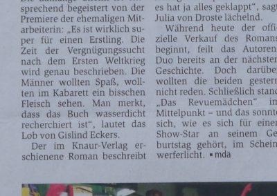 Münsterschen Zeitung 31.10. 2009, Autor: Miriam Daschty