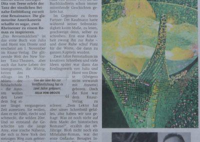 Münsterschen Zeitung 28.10. 2009, Autor: Miriam Daschty